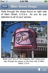 This example talks about how the five senses are used in the shops of Main Street, U.S.A.