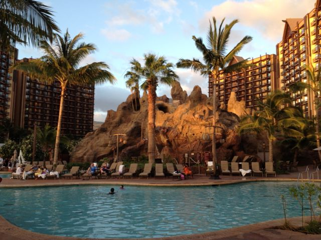 The spectacular Disney Aulani Vacation Club Resort in Hawaii.