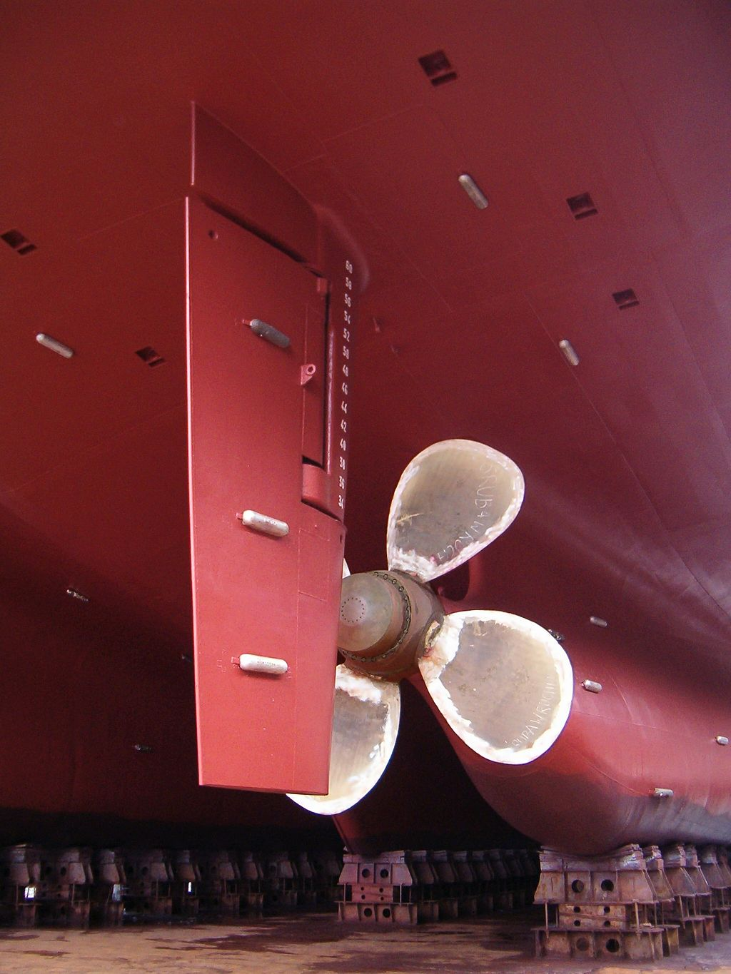 A modern ship rudder.