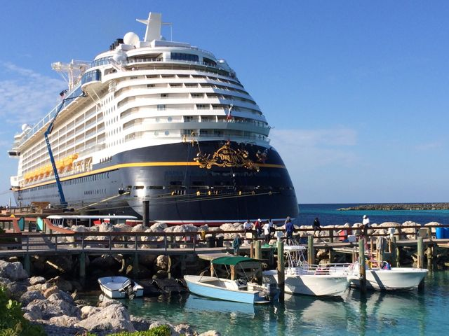 The Disney Fantasy in dock at Castaway Cay. Photo by J. Jeff Kober.
