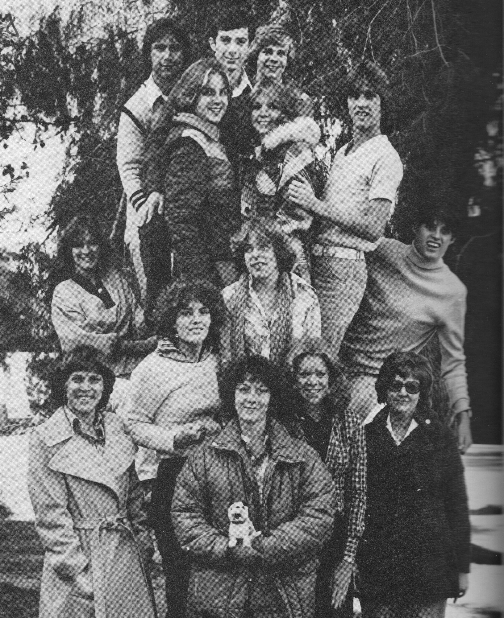 One of the few photos I have with Miss Goehring and I together in the same photo, along with our 1979 thespian group. I'm in the turtle neck on the opposite side.