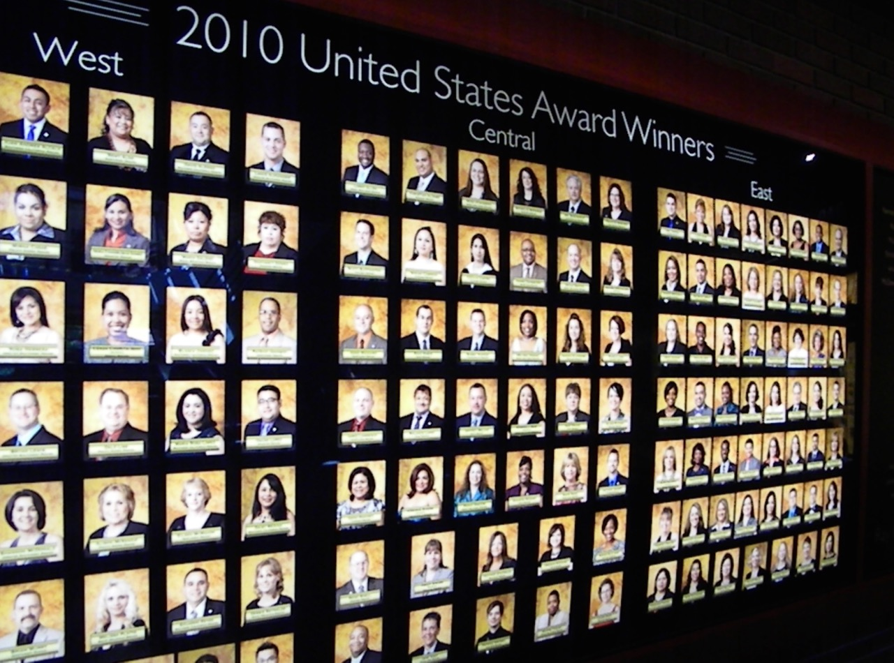 McDonald's 2010 U.S. Award Winners listed at Hamburger University. Photo by J. Jeff Kober