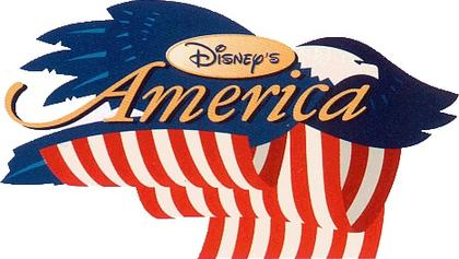 The Logo for Disney's America Theme Park, once planned for the DC area.